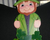 St. Patrick's Day Leprechaun fpr door or wall hanger