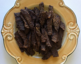 BEEF LIVER JERKY strips and bits -  16 oz, 1 lb, Beef Jerky, Beef Jerky Strips -1 Lb - Dog and Cat Treats - 1 Pound Package