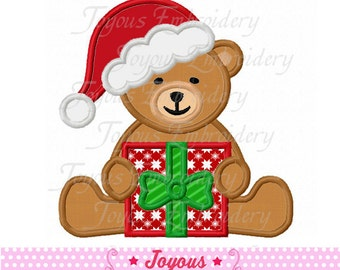 Instant Download Christmas Teddy Bear Applique Embroidery Design NO:1639