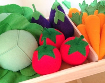 Pretend Play Felt Food Tomato