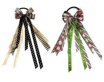 Ponytail Streamer, Pony O, Ponytail Hair Streamer, Christmas Streamer, Christmas Ponytail Streamer