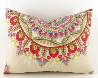 Lumbar Pillow Cover ANY SIZE Decorative Pillow Cover Designer Pillow Richloom Margarita Garden