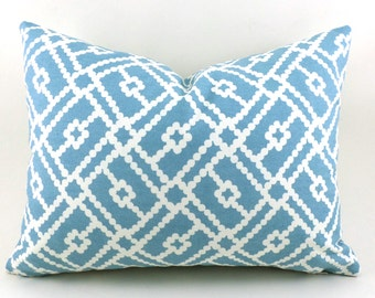 Lumbar Pillow Cover ANY SIZE Decorative Pillow Cover Pillows Home Decor Suburban Home Pippa Turquoise