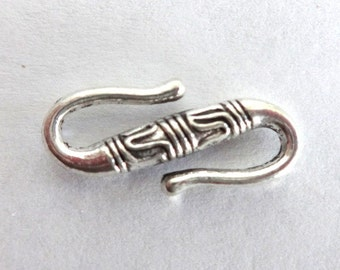 5 Silver Bali Style S Clasps