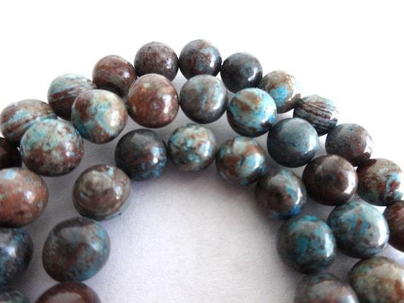 6 mm blue stripe multi color jasper gemstone