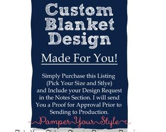 Custom Blanket - Design Your Own Blanket - Spirit Blanket - Baby Blanket - Throw Blanket - Personalized Blanket