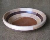 Ash and Walnut Segmented Bowl Handmade