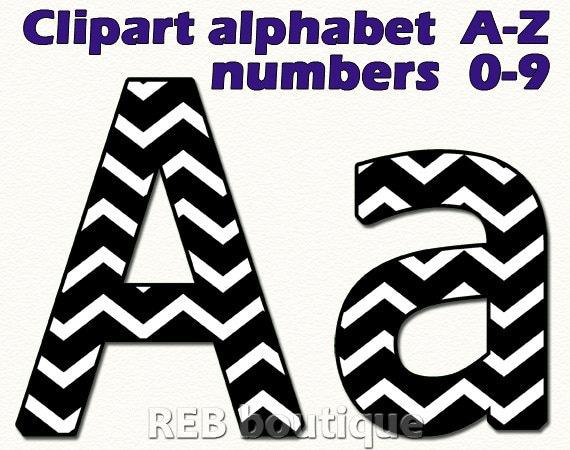 Black And White Chevron Clipart Alphabet Clip Art Alphabet
