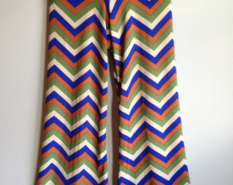 Size 5t......Chevron Palazzo Pants....Made and ready to be shipped!