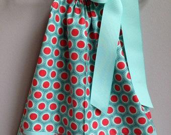 Size 6/12m......Polkadot Pillowcase Dress.....Made and ready to be shipped!