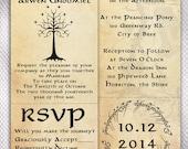 100 LOTR Wedding Invitations