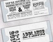 45 Movie Ticket Wedding Invitations