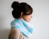 White Baby Blue Chevron Scarf - Spring Scarf - Fashion Accessories - Gift for Her