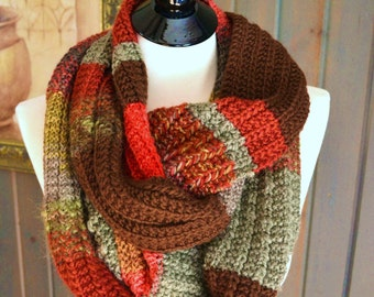 EXTRA LONG Hand Knit Scarf - One Of A Kind!!
