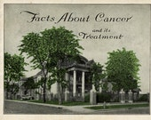 "Antique Medical Book, 1921 ""Facts About Cancer and Treatment"", Indianapolis Cancer Center, GREAT Gift for Oncologist,  Gruesome Photos  #8"