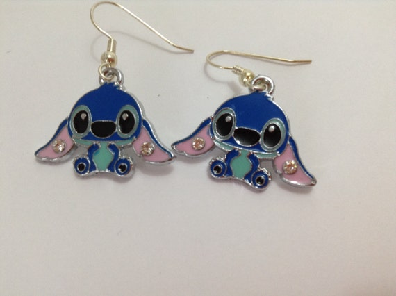 stitch earrings inspired by lilo and stitch