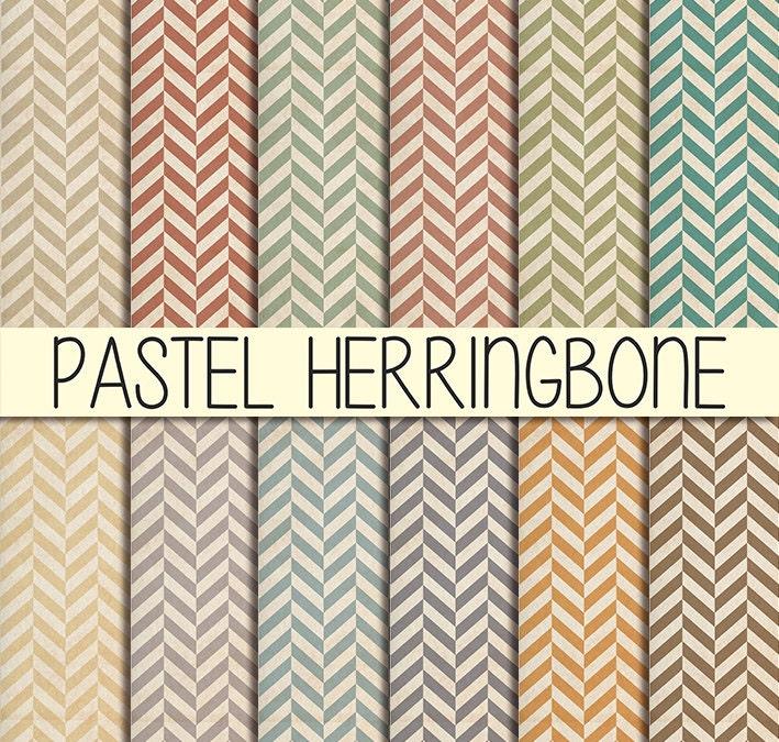 shabby pastel herringbone patterns instant download set of. Black Bedroom Furniture Sets. Home Design Ideas