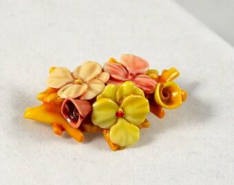 Vintage Floral Brooch Pin