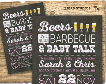 bbq baby shower invitation coed baby shower invitation beer bbq u0026 baby talk