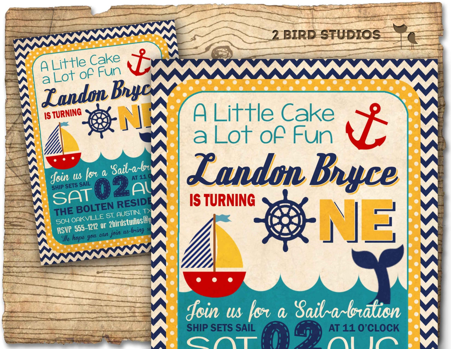 nautical birthday invitation sail boat invitation by birdstudios, Birthday invitations