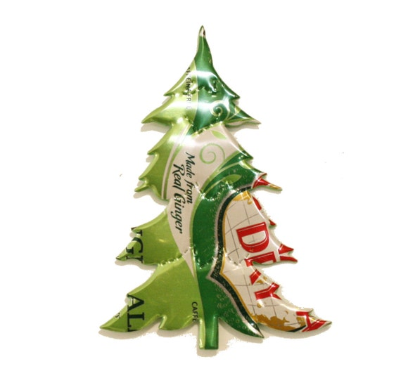 ... Ginger Ale - CHRISTMAS TREE Magnet or Ornament - Recycled Soda Pop Can
