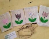 Custom flower banner for Susan Clark
