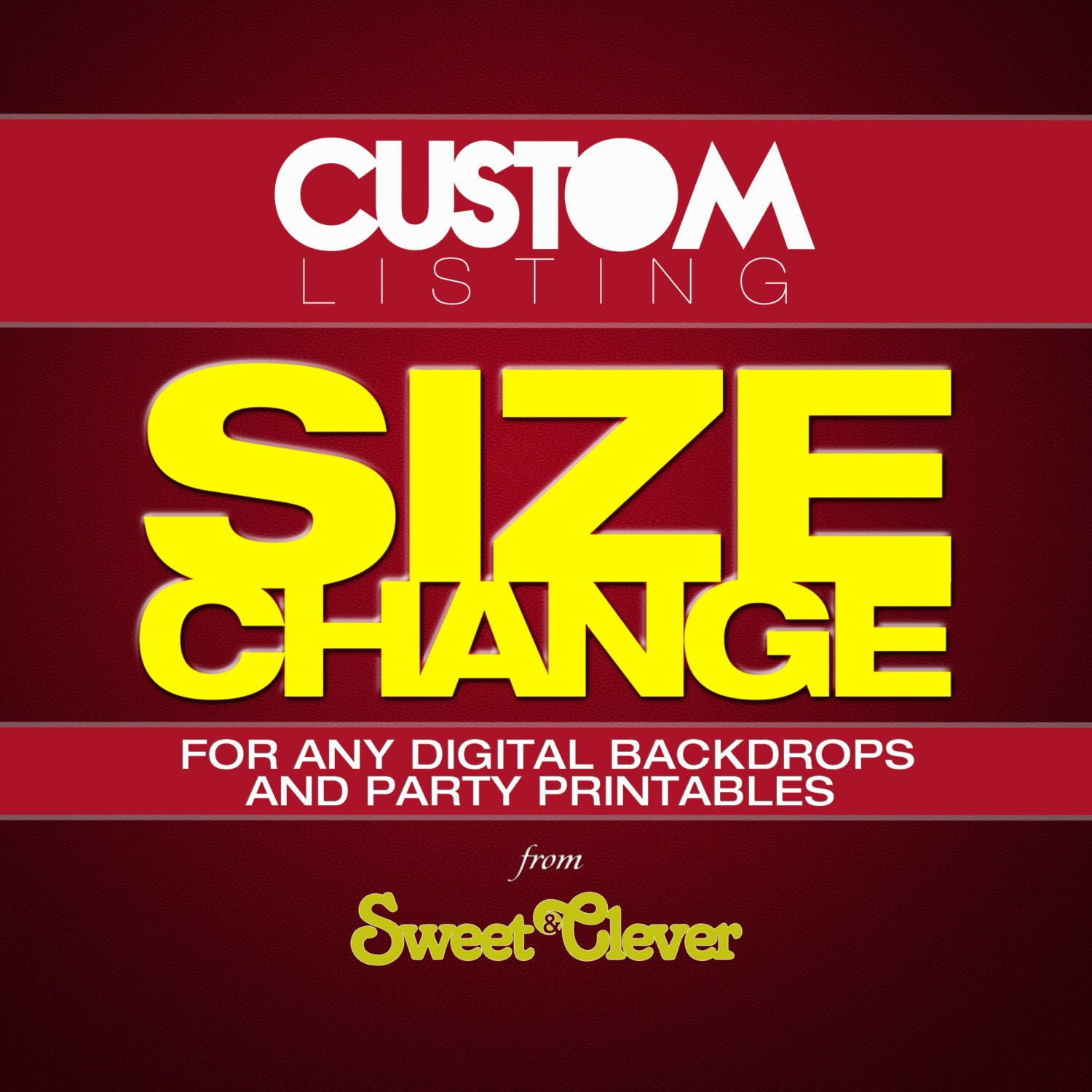 Cheap Design Changes That Have: Custom Listing SIZE CHANGE For Any Digital Backdrops And Party