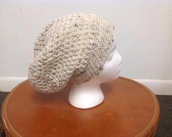 Oatmeal Crochet Slouch Hat