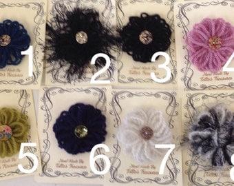 Wool Flower loom Brooch