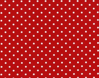 Red and White Polka  Dot Basic by Timeless Treasures