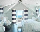 Horizontal Stripe STORE WIDE SALE Curtains Custom Made Designer Drapes Indoor Outdoor