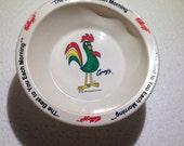 1995 Kelloggs Corn Flakes Cereal bowl - Premium Character souvenir