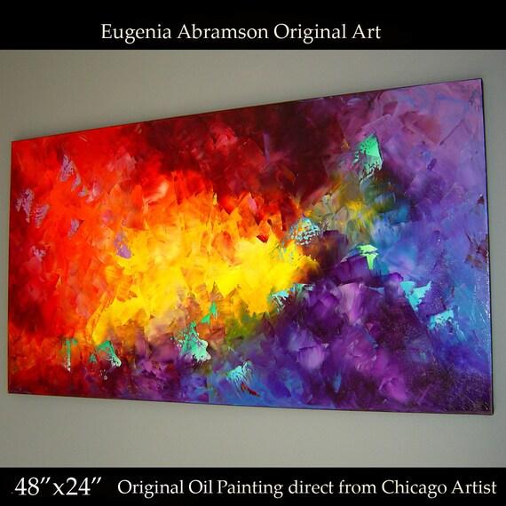 peinture 224 l huile sur toile 48 x 24 233 norme originale