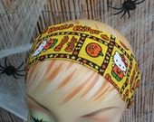 Hello Kitty Halloween Headband One Size 100% Licensed Cotton Fabric Yellow