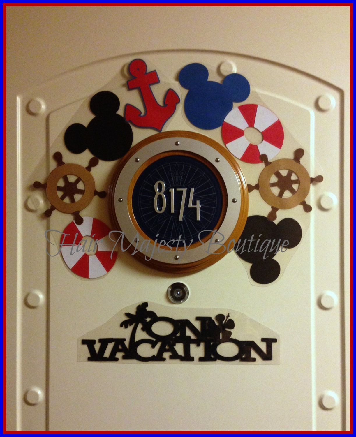 Nautical Mickey Mouse Magnet Wreath For By Hairmajestyboutique