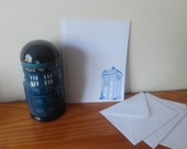 4 sets of large tardis note paper