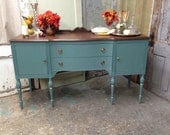 Dining Room Sideboard, Dining Room Buffet, Teal Sideboard, Media Credenza, Entry Way Furniture