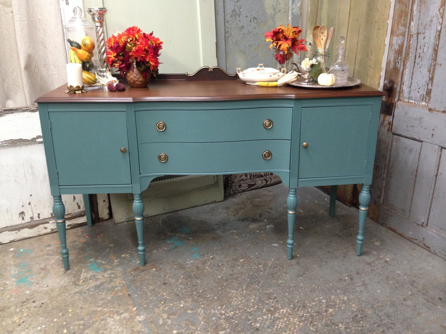 dining room sideboard dining room buffet teal by vintagehipdecor
