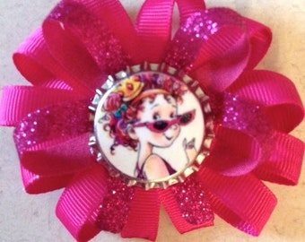 Favorite Book Characters Bottlecap Hair Bow