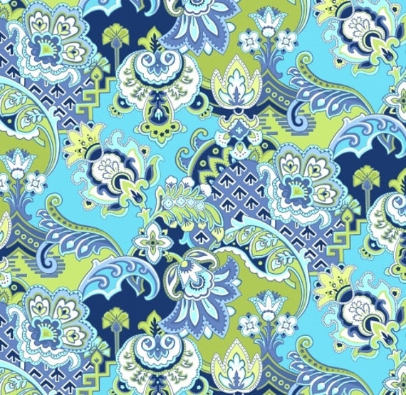 Blue Quilt Fabric Paisley Fabric/navy Blue