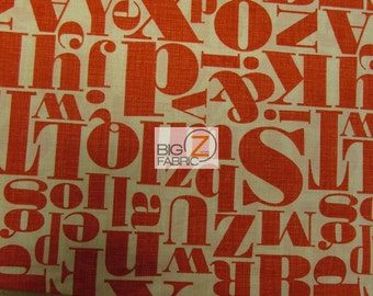 "Letterpress Red By Michael Miller 100% Cotton Fabric - 45"" Width Sold By The Yard (FH-1011)"