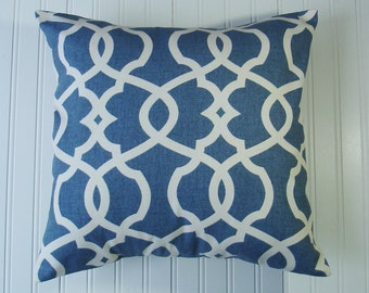 Pillows  Decorative Throw Pillows  Blue and Beige  Decorative Throw Pillow C9