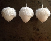 Assorted Acorn Holiday Ornaments (set of three)