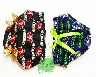 Diaper Cover Made with ANY Licensed NFL Fabric