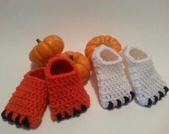 Infant Newborn Baby Crochet Monster Slippers Booties