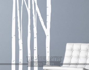 Birch Trees Large or Small Vinyl Forest Children Kids Wall Home Nursery Decal Sticker