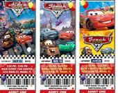 Disney Cars Birthday Ticket Invitation - Printable Disney Cars Ticket Invitation