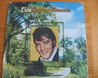 1978 Elvis Country Memories Double Record Album