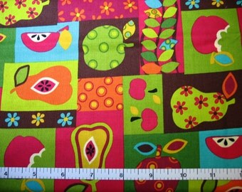 1 Yard, Multi Colored Fruit on Blocks