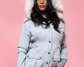 SALE Tuck Luxury Military Jacket Coat - Size S, M, L .. Grey Heather, Military Green or Black